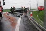 Wpadek drogowy na drodze wojewódzkiej w miejscowości Wilczyce